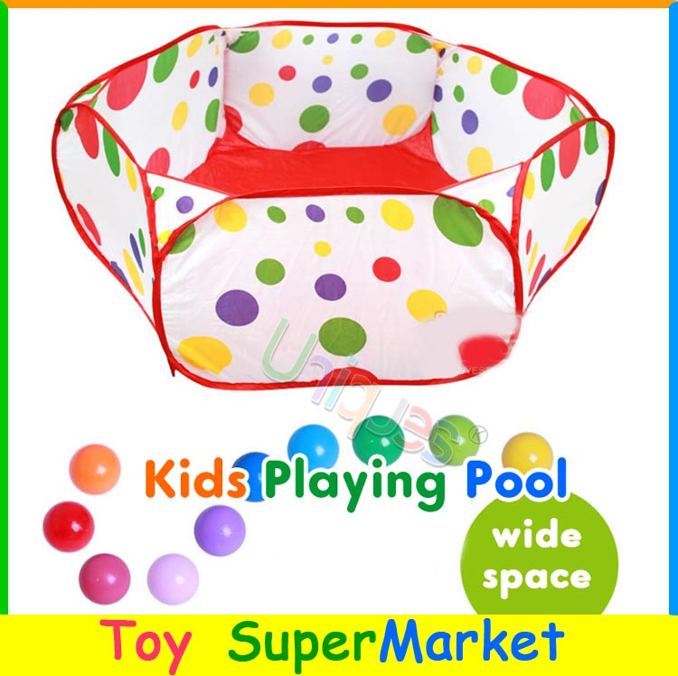 Free Ship Ocean Balls Pool 1M Outdoor Trip Playhouse for Store Collect Toys Kids Play Tent House Playing Game Lawn Beach Toy(China (Mainland))