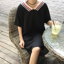 Mihoshop Ulzzang Korean Korea Women Fashion Clothing Harajuku chic hit color long short sleeve T-shirt loose 327 Free Shipping(China (Mainland))