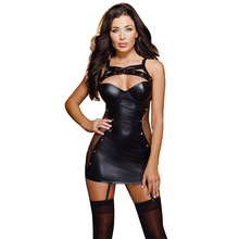R7859 Price Promotions sexy dress 2015 new arrival black women clothing womens dresses high quality super deal new Leather dress(China (Mainland))