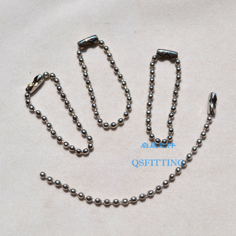 Sell DIY accessories,key rings,10CM rhodium plating ball chains,Alloy material,100pcs in a bag(China (Mainland))