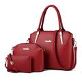 Trendy Mother Child Bag Three Piece Suit Women Fab Portable Handbag Large Bag Ladies Designer Shoulder