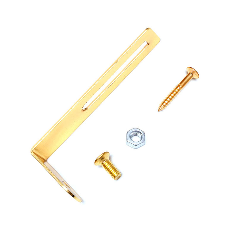 2016 New Golden For Les Paul Electric Guitar Pickguard Mounting Bracket With Screws(China (Mainland))