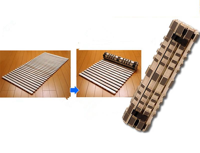 Japanese Folding Tatami Bed Frame Width 900-1200mm Bedroom Furniture Folding Platform Bed Frame Luxury Wooden Slatted Bed Design(China (Mainland))