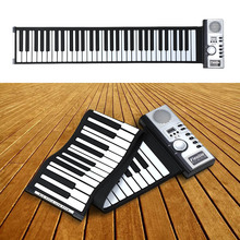 Portable 61 Thickening Keys Flexible Electronic Roll Up Piano MIDI Soft Keyboard Piano High Quality Silicone rubber keyboard(China (Mainland))