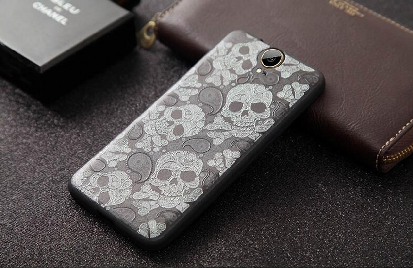For HTC ONE E9 Plus Case Cover 3D Stereo Relief Painting Back Covers Cartoon Silicon Phone Cases For HTC E9+ 5.5 inch(China (Mainland))