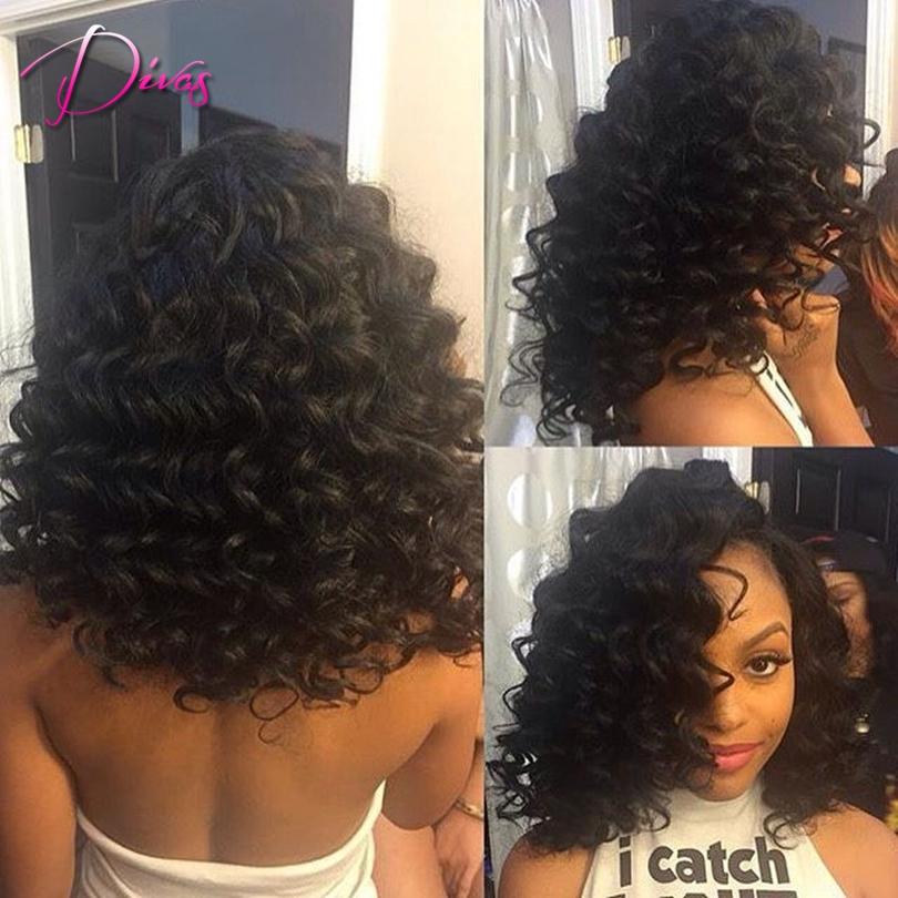 100% Brazilian human hair wigs aferican americans 6A grade brazilian full lace &lace front black women - Divas Wig Store store