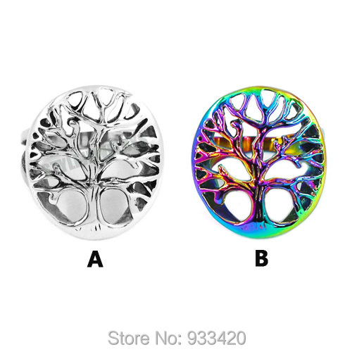 Free shipping! Claddagh Style Life Tree Ring Stainless Steel Jewelry Fashion Celtic Knot Motor Biker Ring Men Women SWR0418(China (Mainland))