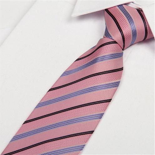 hot pink tie blue black striped 8 cm 2014 fashion brand designer men's minimum order lots - Fashion man and women store