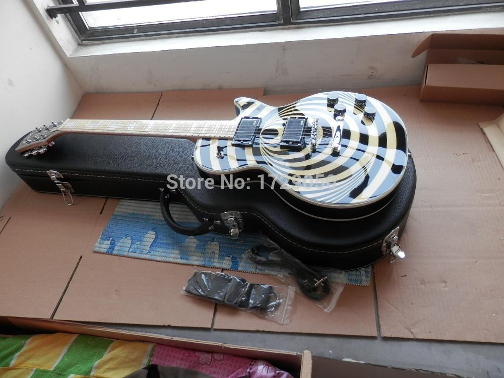 Free shipping highest quality New style maple fretboard Zakk Wylde Vertigo LP CuStom Electric Guitar WITH CASE 19 in Real photos<br><br>Aliexpress