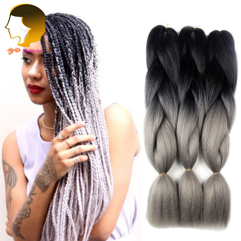 Crochet Braid Kanekalon Hair Ombre Extension Expression Braids Crochet ...