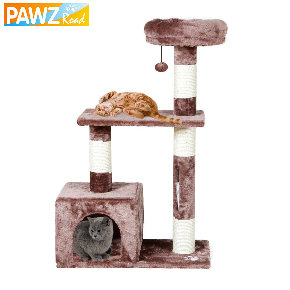PAWZ Road Cat Toy Scratching Domestic Delivery H96CM Wood Climbing Tree Cat Jumping Standing Frame Cat Furniture Pet Supplies(China (Mainland))