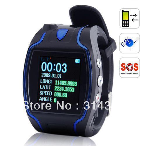 Сотовый телефон GPS трекер наручные часы GSM наблюдения для отслеживания для ребенка пожилые люди авто