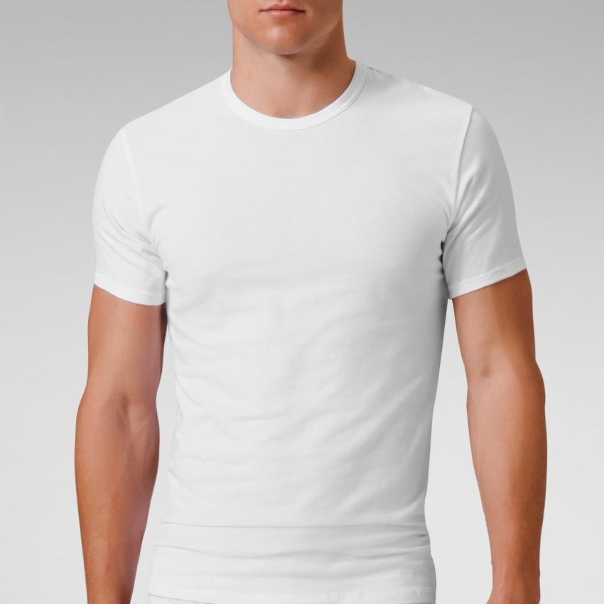 Free Shipping Mens Cotton Crew Neck Short Sleeve T