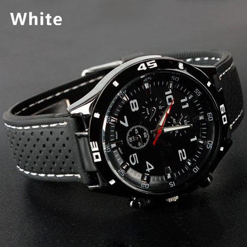 Mens Women Silicon Sports Wrist Watch Fashion Mens Racer Sports Military Pilot Aviator Army Style Unisex