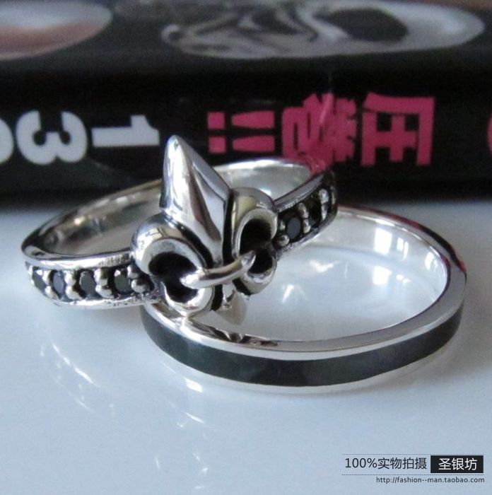 The trend of the paragraph of silver 925 pure silver thai silver male anchor ring vintage 2 ring(China (Mainland))
