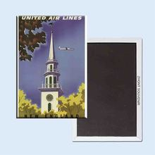 Buy United Airlines New England Vintage Travel Poster 24161 Retro nostalgia fridge magnets for $3.48 in AliExpress store