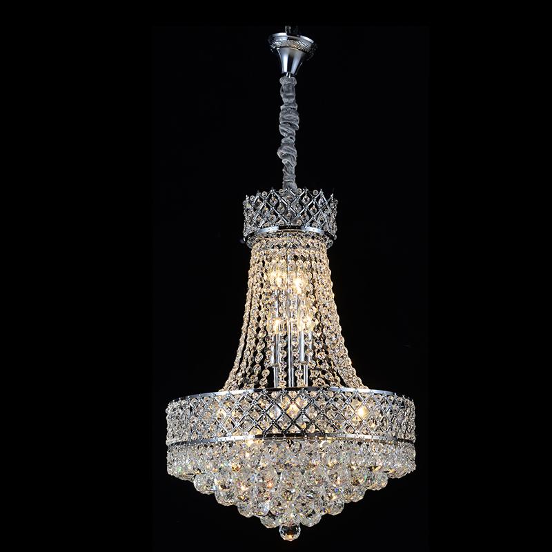 Здесь можно купить  Free Shipping Royal Empire Golden Crystal chandelier Light French Crystal Ceiling Pendant Lights D500mm X H450mm  Свет и освещение