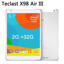 Teclast x98 air iii android 5.0 tablet pc 9.7 pollice  2048x1536 ips schermo intel Z3735F quad core 2 gb/32 gb buletooth 4.0(China (Mainland))