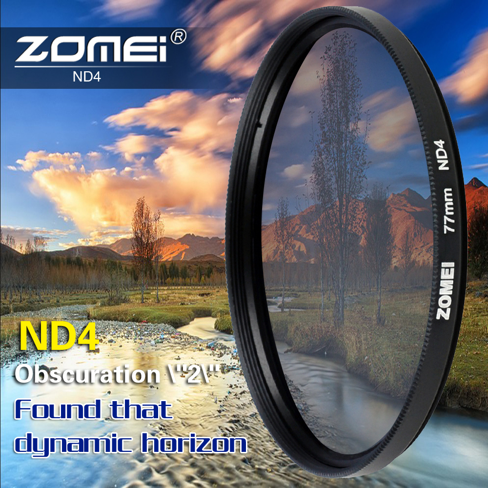 ZOMEI 55mm Neutral Density ND2 Filter for Canon Nikon Olympus Sony tamron lens(China (Mainland))