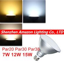 E27 9W/12W/15W PAR20 PAR30 PAR38 Waterproof IP65 LED Spot Light Bulb Lamp Indoor Lighting Dimmable AC85-265V(China (Mainland))