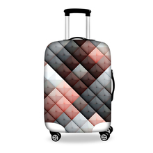 Fashion Plaid Printed Travel Luggage Protective Cover for 18-30 Inch Suitcase Elastic Luggage Covers Waterproof Suitcase Covers(China (Mainland))