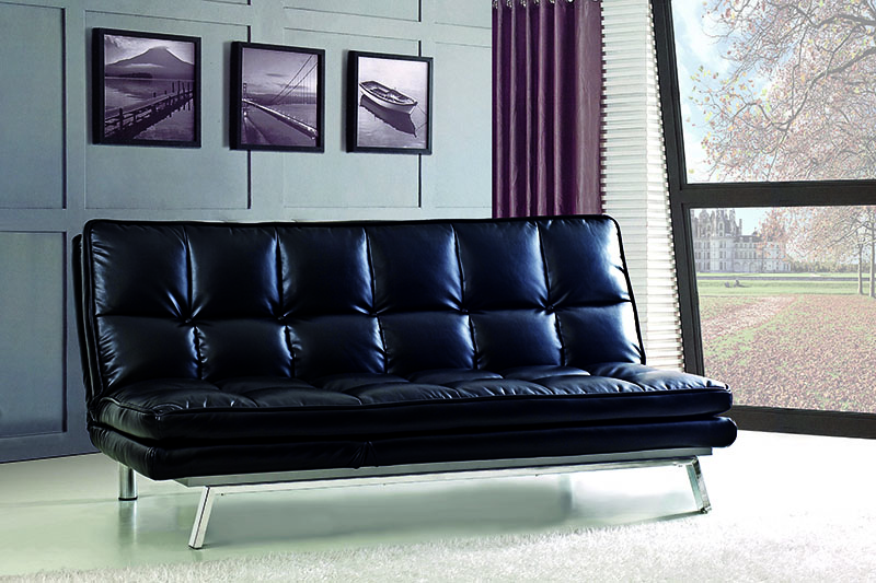 Simple design leather sofa bed living room furniture for Good quality living room furniture