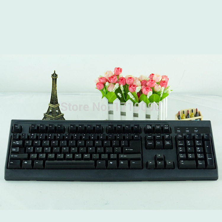Flexible Silicone PC Keyboard for Laptop Notebook Black Free shipping &wholesale 1pc(China (Mainland))