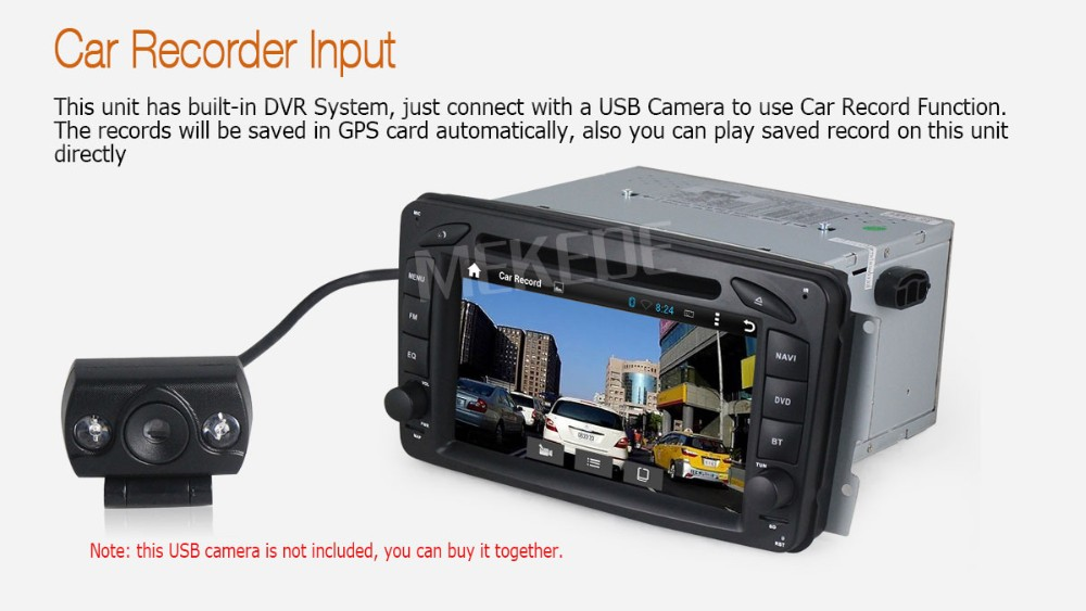 1024*600 HD screen Android5.11 car Multimedia player for Benz W203 W208 W209 W210 W463 Vito Viano with GPS navigator DVD player