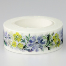 1 Pc / Pack Super Beautiful Flower High Quality Washi Paper Masking Tapes Diy Floral Decorative Stickers Gift Wrapping Sticker