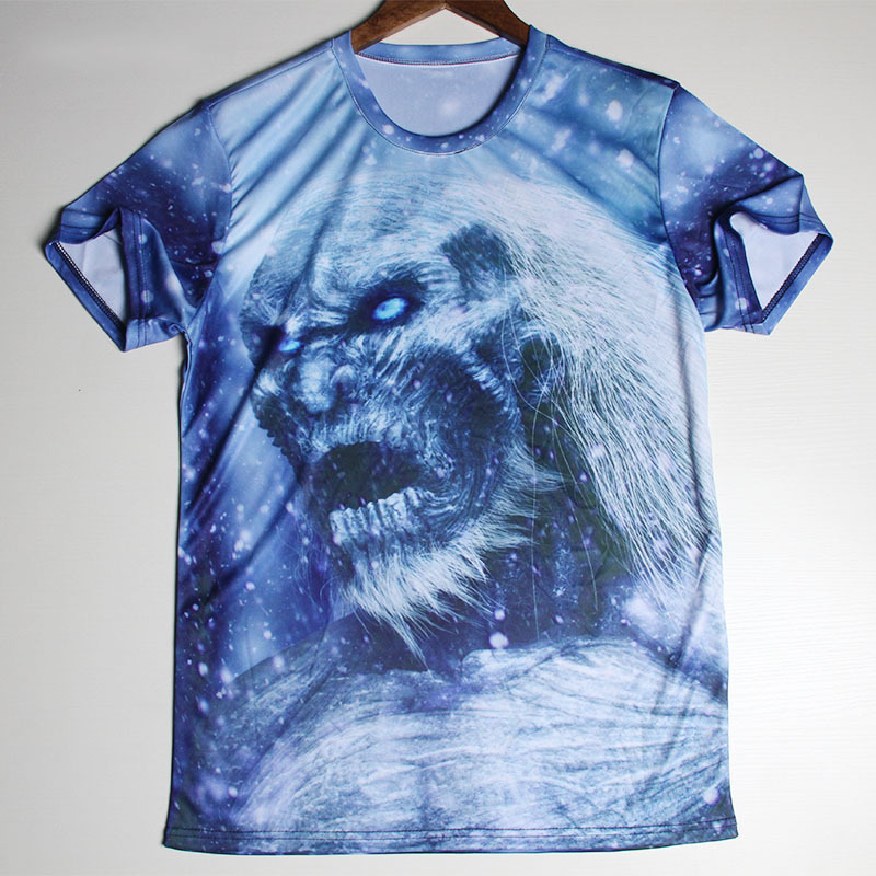 New Skull Printed 3D T Shirts Game Of Thrones Men Shirts O-neckTop Tees Casual Wolf Clothing Cheap Promotion Great T-shirts(China (Mainland))