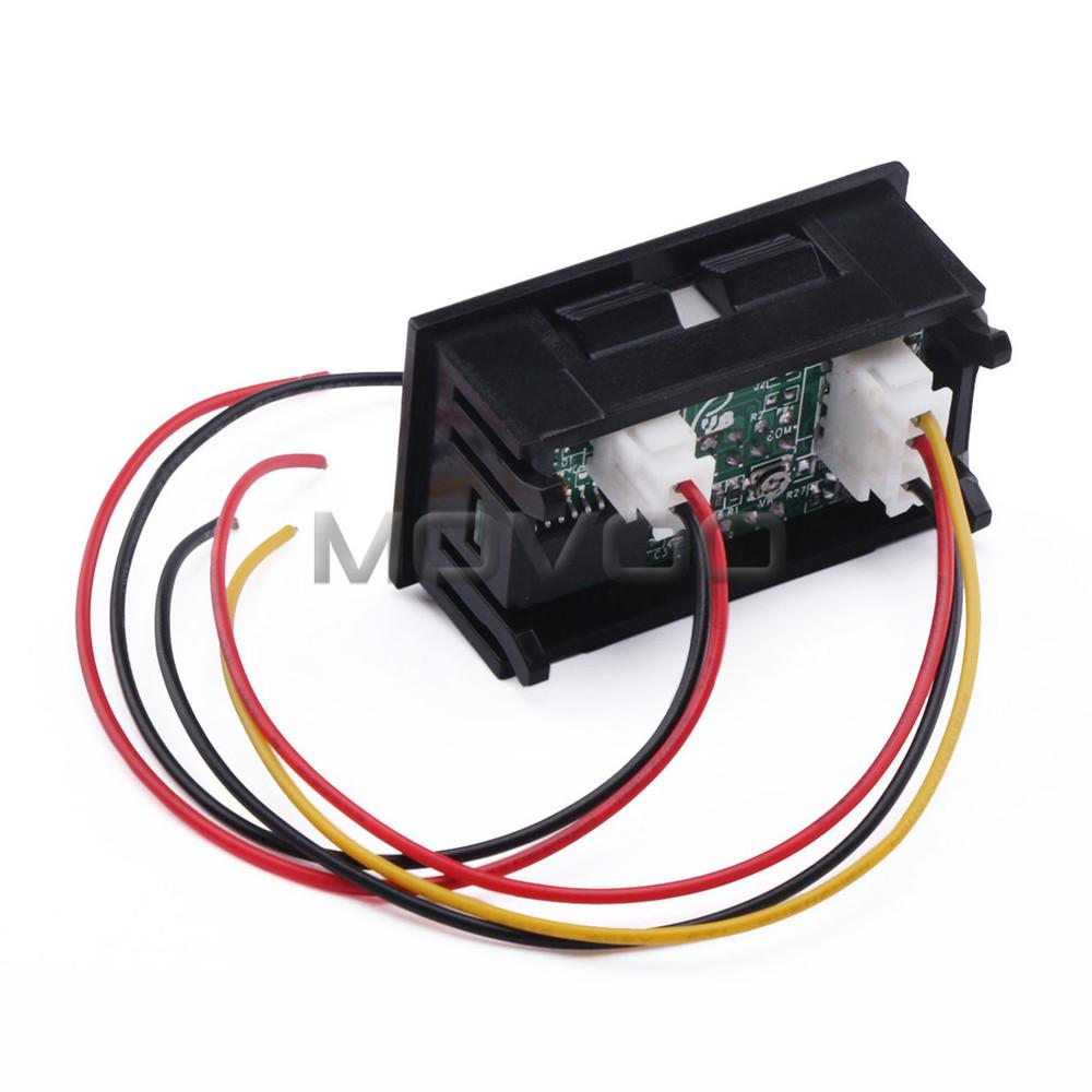 Wholesale 2in1 Volt Amp Meter Dc 0~100v/100a Blue Red Led Digital ...