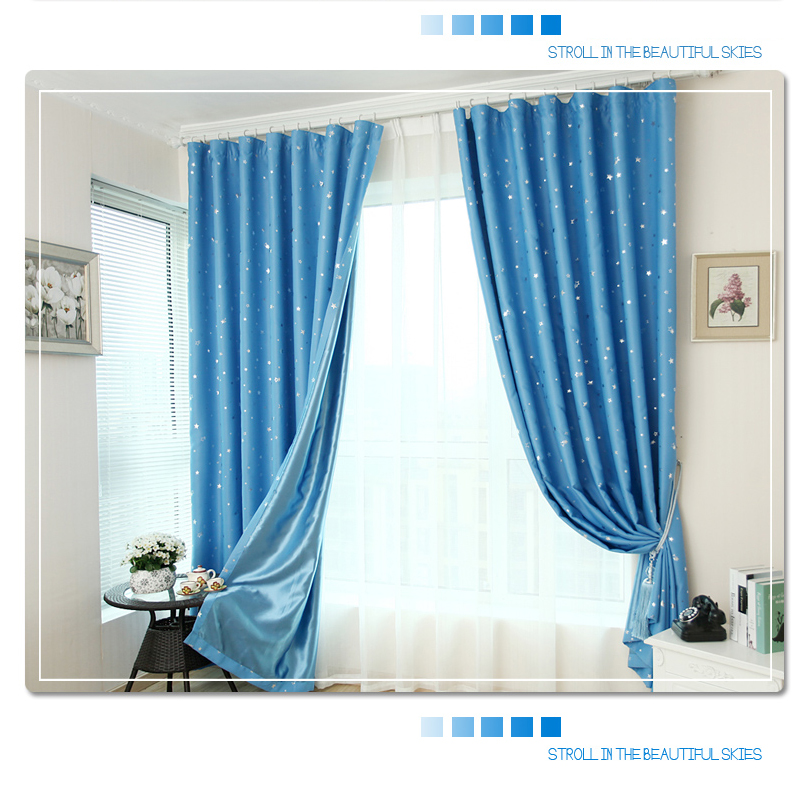 Single Panel Star Blackout Curtains For Bedroom Living Room Curtain Kid 39