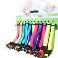 12 pieces lot hot candy colors quick release collars pet dog cat nylon with bell adjustable