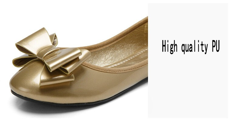 Plus Size 34-42 New 2016 Women Spring PU Leather Flat Shoes Women's Patent Leather Shoes Woman Ballet Flats chaussure homme