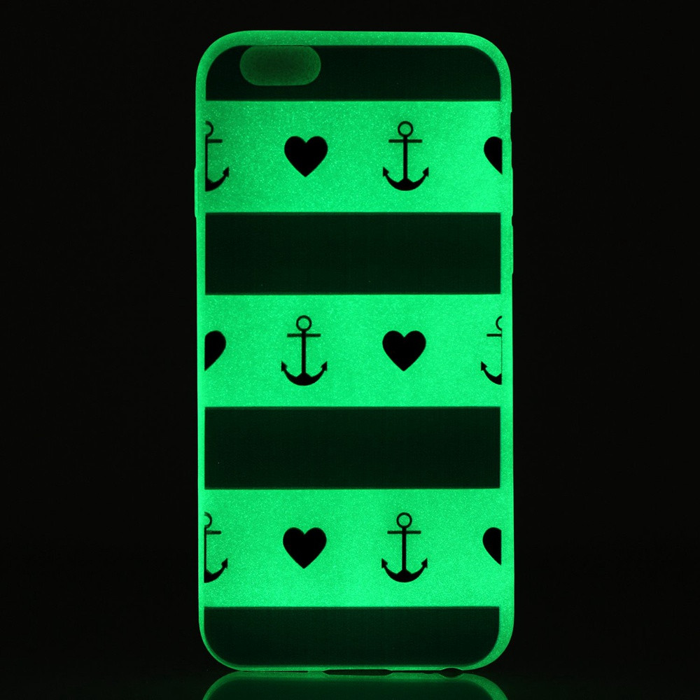 Cool Magical ultra thin Soft TPU Luminous Transparent fluorescence Silicon back Phone case For Apple Iphone 5s case cover