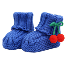 2016 Baby Shoes Handmade Knit Wool Shoes Newborn Baby Shoes Toddler Girl Boy Wool Crib Shoes Toddler First Walkers 10-11cm FY32