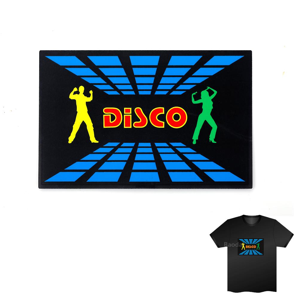 Equalizer T shirt LED Sound Activated T-Shirt Led Music Flashing T Shirts Light Up Down Camiseta LED Short Black Tshirt(China (Mainland))