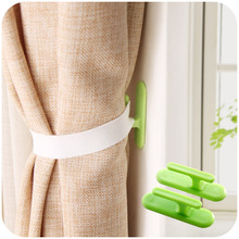 2 Pcs/Lot Curtain Drapery Tiebacks Door Wall Plastic Hooks Holder Hanger Free Shipping F3925(China (Mainland))