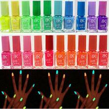 1 Bottle/LOT 7ML Glow in Dark Fluorescent Neon Varnish Luminous DIY Nail Polish & stamp nail art pen Makeup Beauty Tool New(China (Mainland))