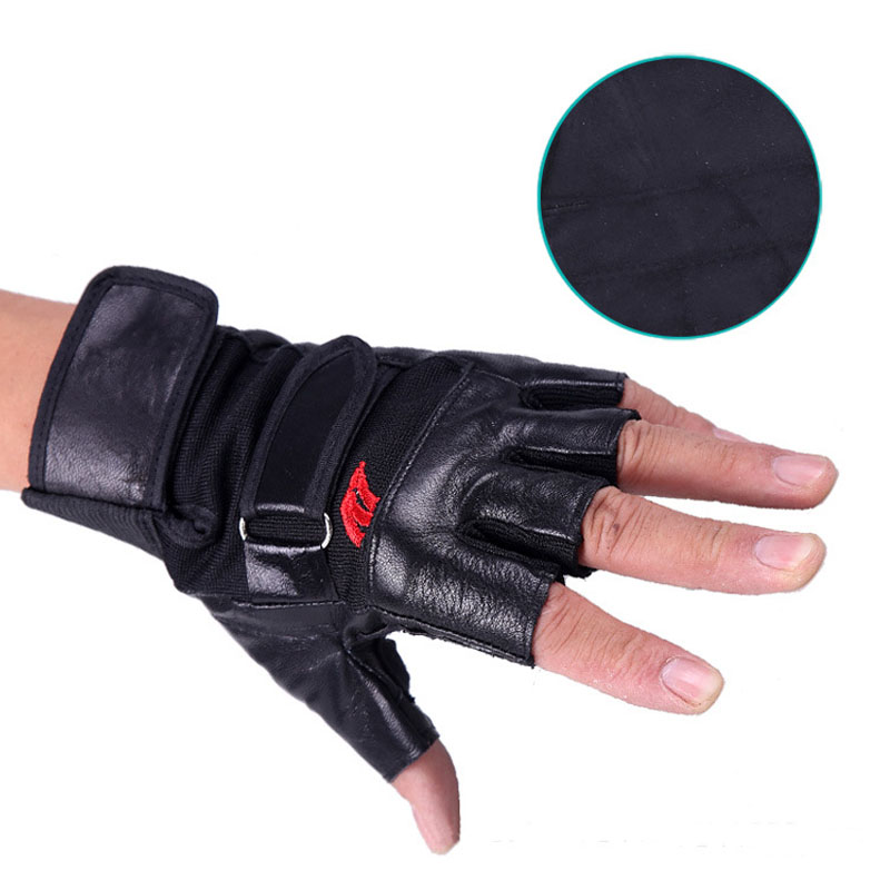Weight Lifting Gloves Leather Fitness Gym Training Workout: Gym Body Building Training Fitness Gloves Sports Weight
