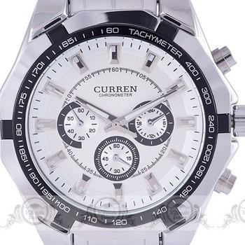 2015 new fashion watches men luxury brand sport embed case multi deco sub-dials Quartz Curren full Steel Band relogio masculino
