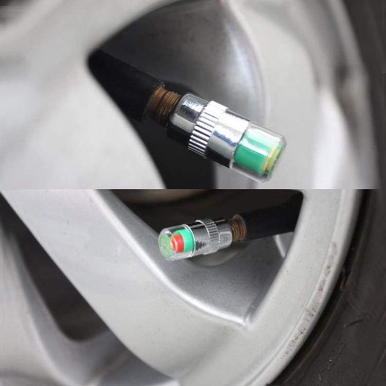 Unite tire pressure warning cap ( sedan only) automatically load tire pressure gauge YLT-7036(China (Mainland))