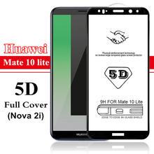 新しい 5D 強化 Huawei 社の P20 P30 プロ P10 メイト 10 20 lite 20X 1080p スマート 2019 P8 lite 2017 フルスクリーンカバープロテクターフィルム(China)