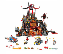 LEPIN 14019 Nexo Knights Axl Jestros Volcano Lair Combination Marvel Building Blocks Kits Toys figures Compatible Legoes Nexu - Sunflowers House Store store