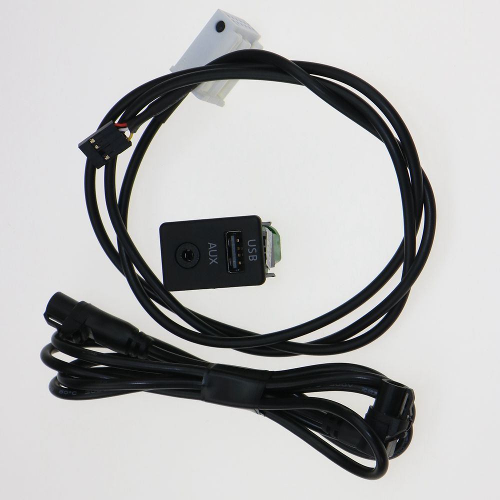 VW RCD510 RNS310 OEM AUX+USB Switch Plug & Cable Passat B6 B7 CC Touran 3CD 035 249 3CD035249A  -  Ms. DAI shoe store store