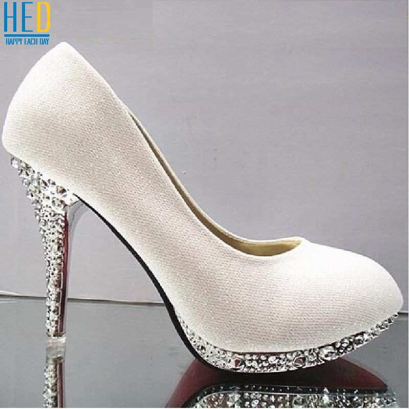 7/10cm Gorgeous Wedding Evening Party Crystal High Heels Women Shoes Sexy Woman Pumps Fashion Bridal Shoes Red Bottom High Heels(China (Mainland))