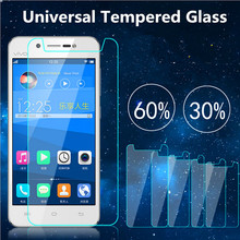 10PCS Premium Real 9H 2.5D 0.26mm Universal Tempered Glass Screen Protector Film For 4.5 4.7 5.0 5.3 5.5 5.7 inch Mobile Phones