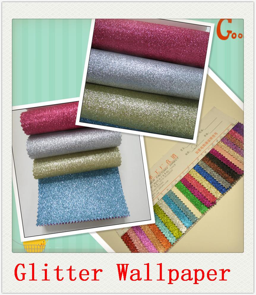 Buy 20 meter free shipping glitter for Glitter wallpaper living room