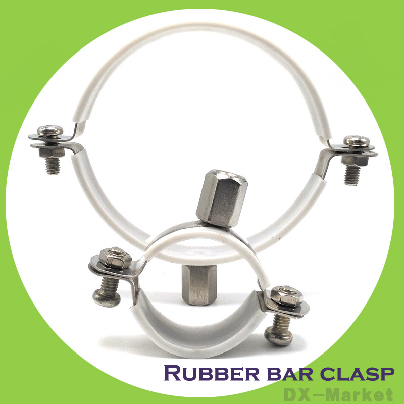 90mm , 5pcs/lot ,fixing core tube anchor ear  Stainless steel rubber bar clasp<br><br>Aliexpress
