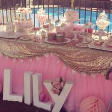 Блестящие шампанское золото блесток гламурная скатерть / ткань для свадьбы / день рождения дисплей стол обеденный стол / событие украшения
